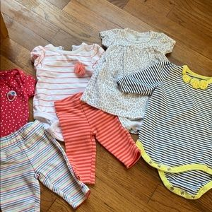 Newborn baby girl outfit bundle